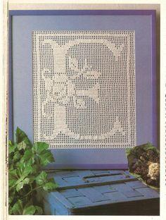 Crochet Pattern Vintage Filet Crochet Pattern by Multipatterns