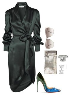 """""""Envy Me"""" by fashionkill21 ❤ liked on Polyvore featuring Yves Saint Laurent, Christian Louboutin, Tom Ford, Roberto Cavalli and Allurez"""