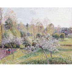 Apple Trees In Blossom Eragny Canvas Art - Camille Pissarro (22 x 28)
