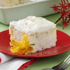 Eggnog Tres Leches Cake Recipe from Taste of Home