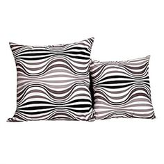 Set of 2 Polyester Decorative Pillow Cases 28124