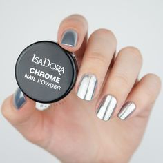 Say hello to IsaDora Chrome Nails - All you need to create a chrome mirror effect to your nails. #chromeyournails #chrome #nails #nailpolish #silver #metallic #nailart #manicure #isadora #isadoramkeup #nails