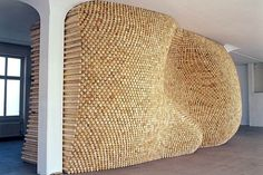 Gerhard Mayer. Holzchlichten, 2000. 7200 woodsticks.