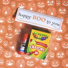 Children's halloween treat bag- For Party favors or close friend gifts with a little Chocolate treat as well.