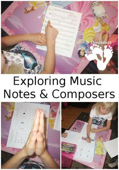 Exploring Music Notes & Composers- Fun activities with notes and music - 3Dinosaurs.com