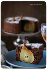 cake de chocolate con peras