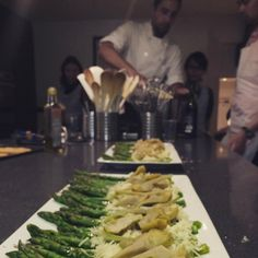 Asparagus and artichokes for starters, not bad eh? La Cuisine Paris - Cooking Classes