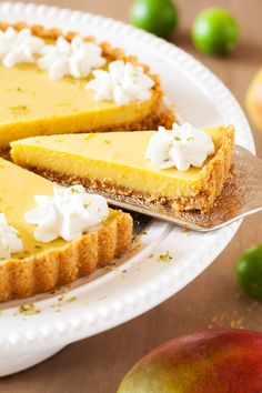 In this Mango Key Lime Tart, mango and key lime work together to create a sweet and sour, custard-like filling that sits atop a buttery graham cracker crust. The perfect dessert for summer BBQ's, potlucks, and get-togethers. from @thepkpway