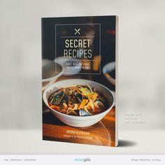 Cookbook eBook Cover Design Template Bundle eBook Kindle   Etsy Ebook Cover Design, Photoshop, Secret Recipe, Creative Outlet, Creative Industries, Cool Artwork, Website Template, Kindle, Templates