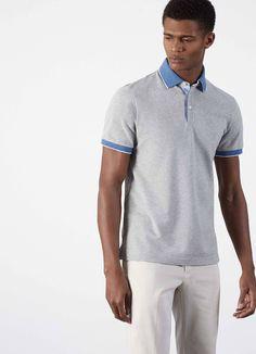 Polo liséré tissé clair - Polos - Clothing - Hommes | Hackett