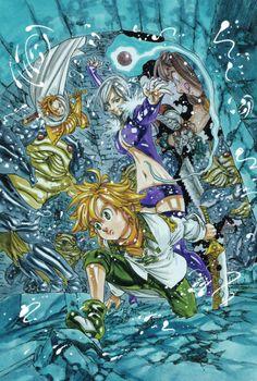 The Seven Deadly Sins fight with Camelot's King Seven Deadly Sins Anime, 7 Deadly Sins, Nisekoi, Meliodas Brother, Meliodas Vs, Fairy Tail, Manga Anime, Anime Art, Manga Art
