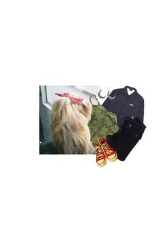 """just for you"" by diznye on Polyvore featuring True Religion and Converse"