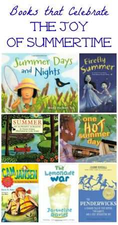 Books that celebrate all the traditions of summer -- includes picture books, ER titles and chapter books! Great for summer reading lists!