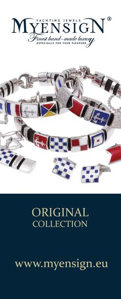 MyEnsign Yachting Jewels Original Collection  www.myensign.eu  #Yachting #Sailing #Jewelry #Jewels