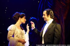Love Never Dies.Music by Andrew Lloyd Webber,Lyrics by Glenn Slater ,Book by Andrew Lloyd Webber and Ben Elton.Directed by Jack OBrien,Choreography by Jerry Mitchell. With Sierra Boggess as Christine,Ramin Karimloo as The Phantom.Opens at The Adelphi Theatre on 9/3/10 Credit Geraint Lewis