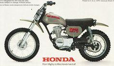 1974- Honda XR75 ad