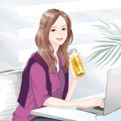 ティーパック パッケージ   Miyamoto Yoshiko illustrator Disney Characters, Fictional Characters, Aurora Sleeping Beauty, Disney Princess, Illustration, Anime, Cartoon Movies, Illustrations, Anime Music
