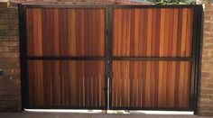 Steel powder coated frame with hardwood spotted gum vertical slats