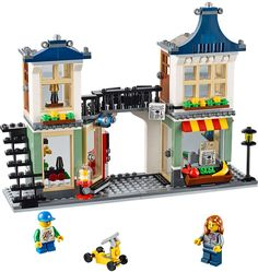 Buy LEGO Creator - Toy & Grocery Shop at Mighty Ape NZ. Open up for a world of fun with the Toy & Grocery Shop! Open a world of adventures with this exciting Toy & Grocery Shop. Shop Lego, Buy Lego, Lego Creator Sets, The Creator, Lego Kits, Shop Buildings, Lego House, Lego Pieces, Building Toys