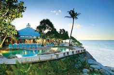 Resort pool on Heron Island, Queensland, Australia