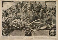 Vanitas: Death Is the Wages of Sin, ca. 1680 ~ Michel Mosin, after Jean-Baptiste Corneille