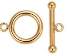 1 Set 12 mm 14K Gold Filled Ball End Toggle Clasp (GF4004004)