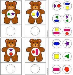 ositos formas Preschool Learning Activities, Preschool Worksheets, Infant Activities, Preschool Activities, Teaching Kids, Kids Learning, Activities For Kids, Cute Powerpoint Templates, Sudoku