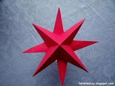 Papierowa gwiazdka 3D na choinkę  #lubietworzyc #DIY #handmade #howto  #instruction #instrukcja #jakzrobic #krokpokroku  #dekoracje #decorations #gwiazdka #gwiazda #swieta #bozenarodzenie #papierowagwiazda #star #christmas #paperstar