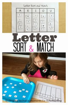 Upper and Lowercase Sort & Match Free Printable