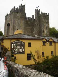 The original Durty Nelly's - Shannon, Ireland. Arguably the most famous pub there and that's saying something! It's across the street from Bunratty Castle. Inside is covered with fire department and police patches. Mine should still be hanging right over the cash register!