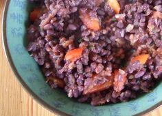 Bonenschotel met adukibonen, paprika en tomaat