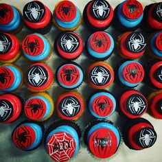 #Spiderman #cupckakes #custom #happybirthday #parkave #cupcakery