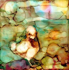 Cutest Chick  print of original alcohol ink painting of a