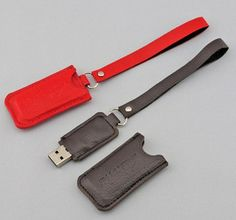 PU USB Flash Drive Keychains