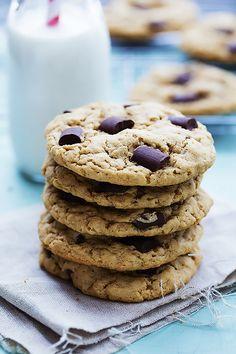 Chocolate Chunk Peanut Butter Cookies   Creme de la Crumb