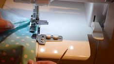 Serger Tip Clip 20: The Downturn Feller Do you want to learn how to create a perfect hem for a bedskirt or valance? Watch my Tip Clip to learn how. #HappySewing