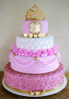 Remarkable Princess Birthday Party Ideas for 6 year-olds Fancy Cakes, Cute Cakes, Pretty Cakes, Beautiful Cakes, Amazing Cakes, Quince Cakes, Quinceanera Cakes, Sweet 16 Cakes, Girl Cakes