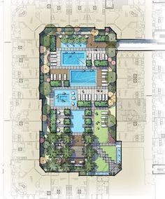 Hotel Architecture, Landscape Architecture Design, Garden Landscape Design, Concept Architecture, Urban Landscape, Urban Design Plan, Plan Sketch, Landscape Concept, Urban Park