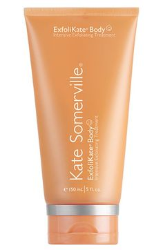 Free shipping and returns on Kate Somerville  'ExfoliKate® Body' Intensive Exfoliating Treatment at Nordstrom.com. Papaya and pumpkin enzymes digest dead skin cells and gentle beads buff them away. Glycolic and lactic acids polish and refine, while rich emollients leave skin supple. Caffeine stimulates, helping tighten and firm, as bergamot and lavender oils combine for a soothing scent.<br><br>Benefits:<br>- Fruit enzymes help to smooth skin.<br>- Gentle acids polish and help to refine ...