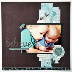 Kaisercraft Sea Breeze Collection. Collette Mitrega Kids Scrapbook, Scrapbooking Layouts, Scrapbook Cards, All That Matters, Photo Layouts, Happy Smile, Projects To Try, Card Making, Paper Crafts