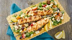Feta-Brined Grilled Chicken Kabobs | Wisconsin Cheese Grilled Chicken Kabobs, Feta Chicken, Light Summer Meals, Feta Pasta, Wisconsin Cheese, Cheese Pairings, Pasta Salad Recipes, Chicken Recipes, Cheese Recipes