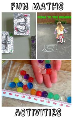 3 fun numeracy / maths activities for kids