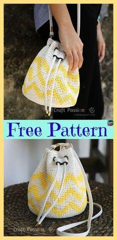 Best Picture of Crochet Raffia Bag Pattern Crochet Raffia Bag Pattern Crochet Raffia Bucket Bag Free Pattern Diy 4 Ever Mochila Crochet, Bag Crochet, Crochet Shell Stitch, Crochet Handbags, Crochet Purses, Raffia Bag, Purse Patterns, Crochet Patterns, Bucket Bag
