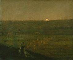 George Fuller | Джордж Фуллер (1822-1884) Moonrise | Восход луны The Phillips Collection, Вашингтон, США