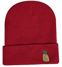 PINEAPPLE BEANIE SKULL CAP HIP HOP CAP RED