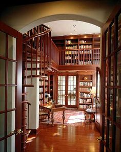 two story library plan | Plan W83383CL: Photo Gallery, Mediterranean, Premium Collection ...Oh, if I could have this in my house!