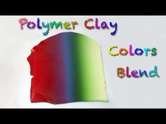 Easy polymer clay rainbow blend- colors gradient - YouTube
