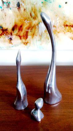 Vintage Hoselton aluminum figurines.
