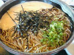 Tororo Soba Inaka-fu 田舎風とろろ蕎麦(温麺)