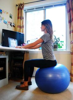 get active at your desk exercise ball chair benefits